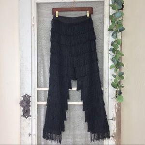 Lavish Alice Black Fringe Pants by Nasty Gal M